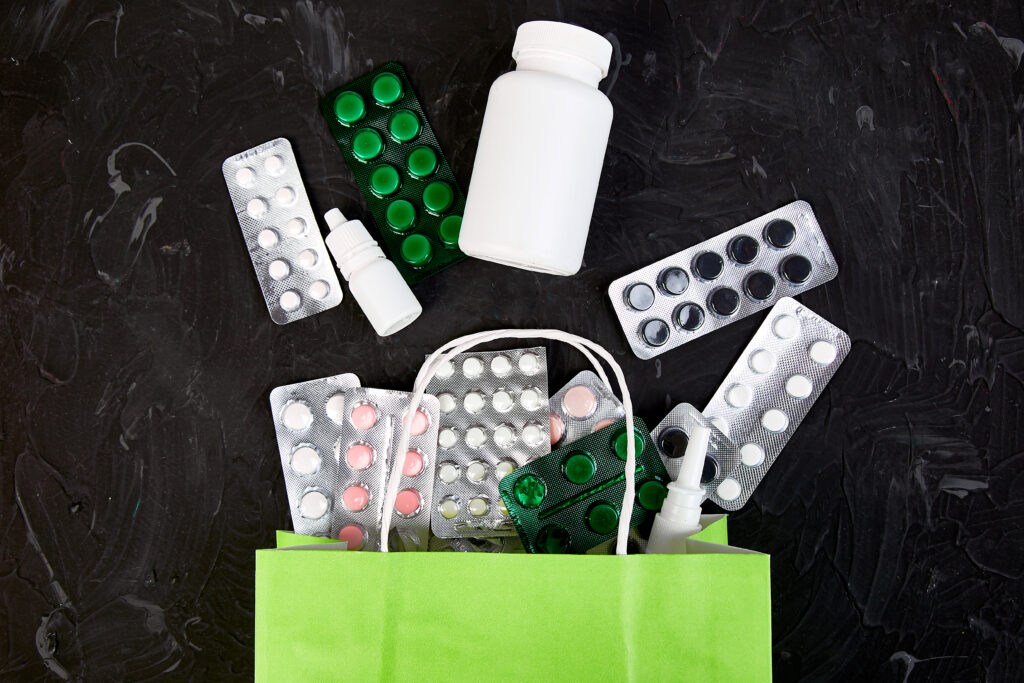 Different Medicines in a Bag